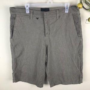 Hurley Pinstripe Tan Shorts Size 36